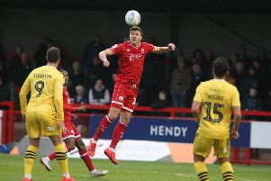 Jordan Tunnicliffe in action against Morecambe