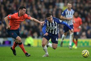 Brighton and Hove Albion striker Aaron Connolly is fit to face Liverpool at Anfield this Saturday