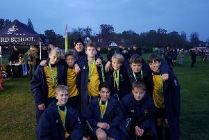 IAPS Football 7 a-side National Finals silver medallists Cranleigh Prep boys. All pictures courtesy of Emma Reid