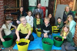 Eco warriors from years three to six at Summerlea Community Primary School