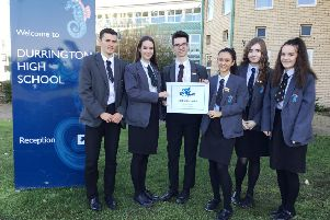 The Durrington High School senior student leadership team, Ruby, Ava, Eddie, Matt, Lila and Ellie
