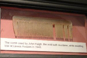 The comb of Acid Bath Murderer John Haigh is among the artefacts available to be adopted at Horsham Museum as part of a new fundraising scheme SUS-191012-104341001
