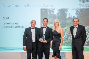 Max Lawrence, Hospitality Assured, Adam and Beth Streeter, Leonardslee Lakes and Gardens, and Simon Calder, travel journalist SUS-191217-111947001