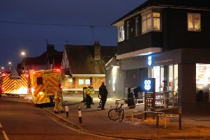 Emergency services responded to a gas leak at the Co-op on Chichester Road in Bognor Regis on New Year's Day. SUS-200201-111517001