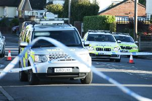 Police closed the road after the accident this morning