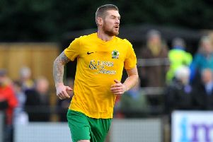 Rob O'Toole opened the scoring for Horsham in their dramatic Senior Cup defeat to Worthing. Picture by Steve Robards