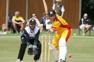 Action from last season's T20 Cup semi-final between Roffey and Horsham. Picture by Derek Martin