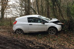 A woman was taken to hospital after the collision near Lindfield. Picture: Sol Mead