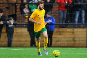 Horsham's Harry Mills struck from the spot. Picture by Steve Robards