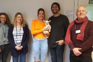 Holly, Claire and Ryan from Turning Tides with Gemma, Dale and their dog Missie