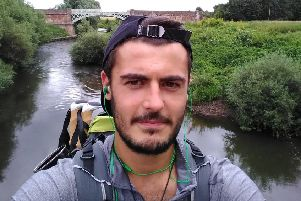 Jack on the Monarch's Way, which ends a mile away from the family home