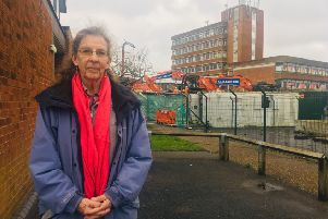 Councillor Janice Henwood has condemned plans for the apartment block in Burgess Hill