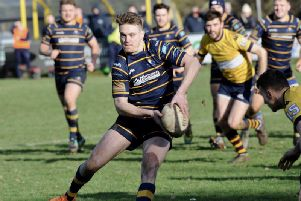 Curtis Barnes grabbed two tries in Worthing Raiders' win at Westcliff. Picture: Stephen Goodger