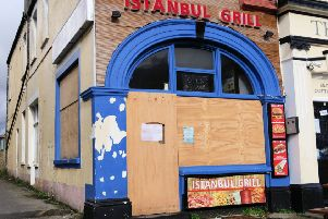Istanbul Grill in Bognor Regis remains boarded up. Photo by Neil Cooper