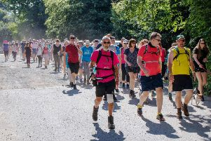 Over 300 walkers set off from the Rugby club in 2019, but this year's Riverside Walk is cancelled due to the coronavirus. Picture: John Lee SUS-200316-120153001