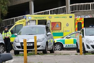 Police and the ambulance service have been called to Teville Gate, in Worthing