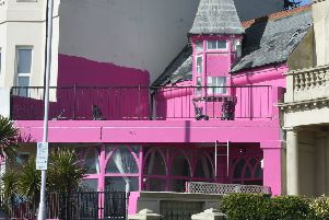 The pink house, in Marine Parade