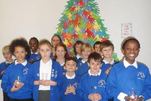 Some of the members of Durrington Infant and Junior School choir