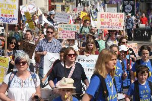 Save Our Schools West Sussex organised a school funding march in Worthing