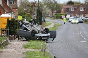 Emergency services are at the scene of a serious collision in Western Road. Photos by Eddie Mitchell.