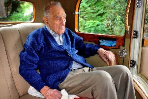 Stan White, 107, enjoyed a birthday ride in a Rolls Royce