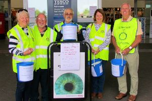 West Worthing Rotarians collecting for the victims of the Rectory Road fire at Tesco in Durrington