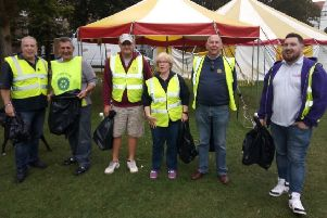 Highdown Rotary members clearing up after the carnival