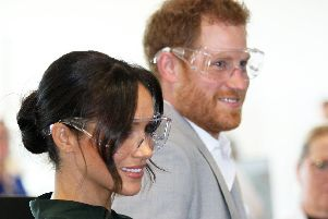Harry and Meghan at the Tech Park