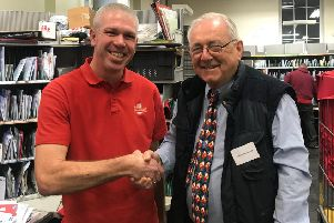 Sir Peter Bottomley on his visit to a sorting office
