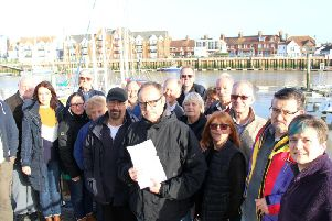 Littlehampton boat owners are protesting against what they see as unaffordable charges set by Littlehampton Harbour Board. Arun Yacht Club Commondor Phil Turnbull, holding letter, with a copy of the objection letters sent by Arun boat owners to the Department of Transport