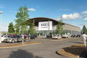 Plans for a new M&S foodhall (photo from Arun District Council's planning portal).