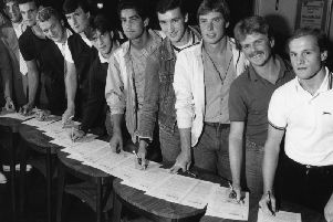 Several Worthing squad members sign on ahead of the 1983 season