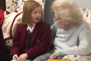 Our Lady of Sion pupils visiting St Mary's Care Home