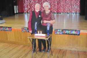 Ken and Joan Hawkins celebrating Ken's 95th birthday