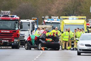 Scene of the A24 crash today (February 28 2019). Photo: Eddie Mitchell SUS-190228-131121001