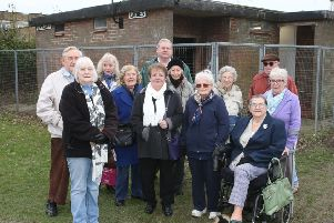 DM1830936a.jpg. Lib Dems in Lancing are calling for new toilets. They believe the Monks Rec toilets should be demolished and new ones built to replace them in North Road. Photo by Derek Martin Photography.