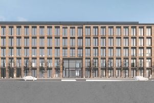 An artist's impression of the Teville Gate House site