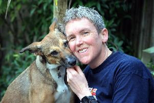 Lynzi Mulford with her beloved rescue dog River