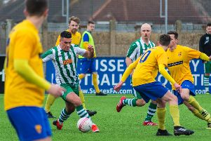 Action from Lancing v Chichester City