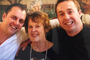 Gill with her sons Andy Peck and David Butler-Peck