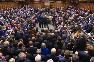MPs wait to hear the result of a vote on Theresa May's latest Brexit deal (photo from Parliament.tv).