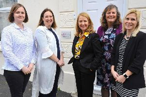 The Safe in Sussex charity team with Katy Bourne, centre