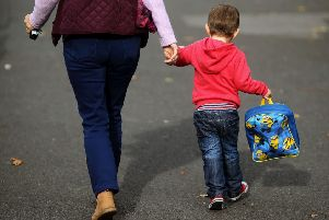 Across England, 52 per cent of babies were registered by parents who were married or in a same-sex civil partnerships
