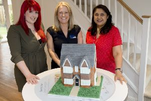 Baker 'Libby Pearce with Bovis Homes sales adviser Jo Read-Fairgrieve and area sales manager Palvinder Calliste
