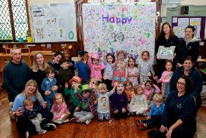 Birthday celebrations at the New Montessori Pre-School. Pic: Chris Robinson SUS-191104-120318001