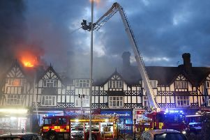 The fire in Rectory Road, Worthing, in August 2018