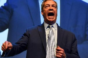 Nigel Farage at the official launch of the Brexit Party Pic: DANIEL LEAL-OLIVAS/AFP/Getty Images