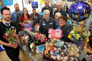 Marge Barry, 78, retiring from The Co-op in Steyning. Picture: Steve Robards SR1909632