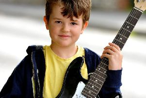 Charlie with the guitar
