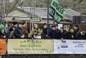 Burgess Hill Town fans at their home game with Leatherhead earlier in the season. Picture by Chris Neal.